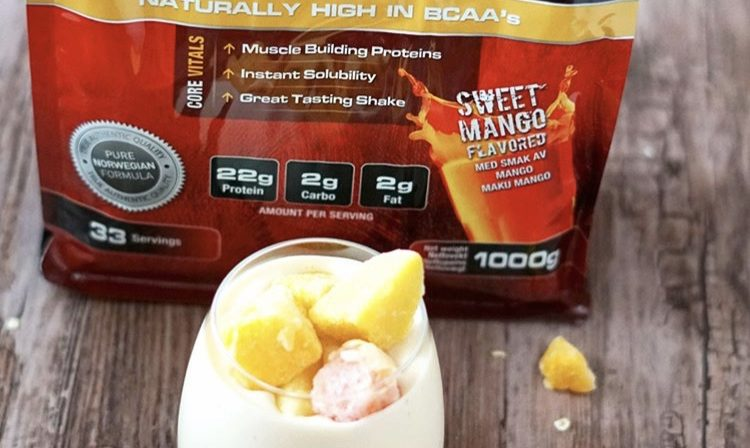 Proteinrik «sweet mango»-smoothie